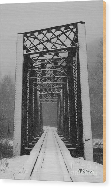 Bridge Over Oil Creek Wood Print