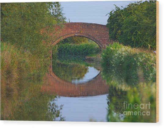 Wood Print featuring the photograph Bridge Over The Canal by Jeremy Hayden