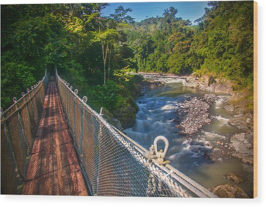 Bridge Over The Pacuare Wood Print