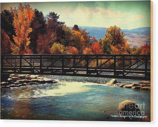 Bridge Over The Truckee River Wood Print