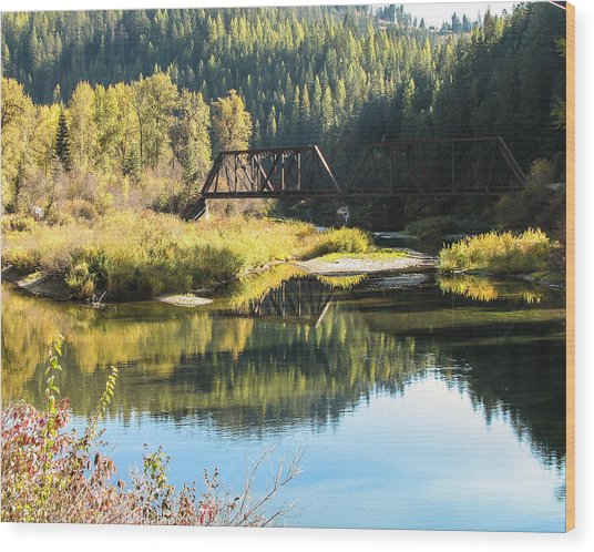 Bridge Reflections Wood Print by Curtis Stein