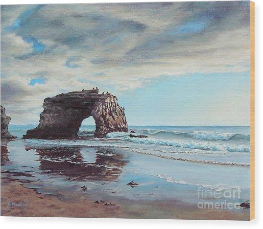 Bridge Rock Wood Print