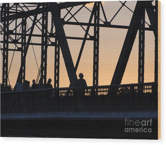 Bridge Scenes August - 2 Wood Print