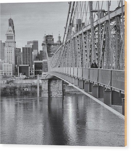 Bridge To Cincinnati Wood Print