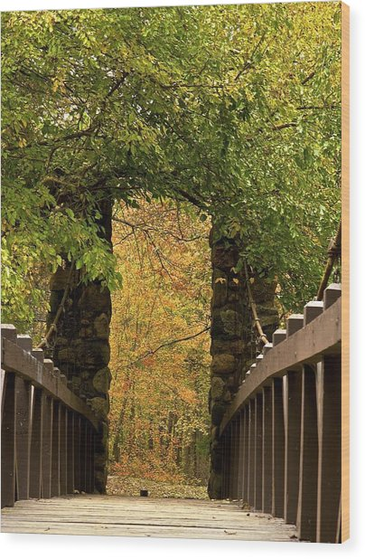 Bridge To Enchantment Wood Print by Kimberly Davidson