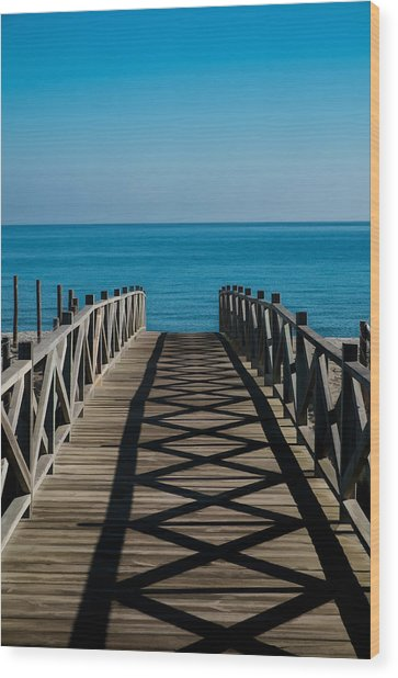 Bridge To Med Wood Print