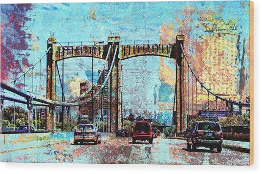 Bridge To Minneapolis Wood Print