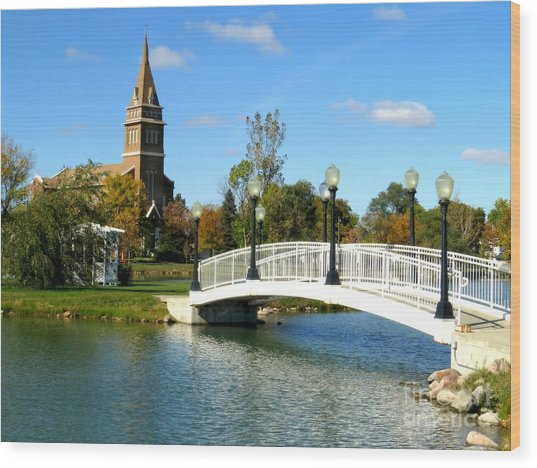 Bridge To Redemption Wood Print by Mary Willrodt