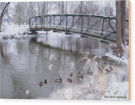 Bridge To Success Wood Print by Frank Sciberras