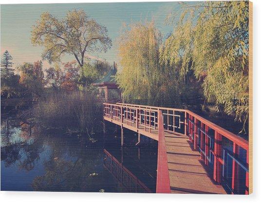 Bridge To Zen Wood Print
