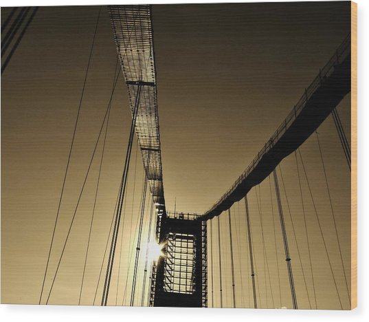 Bridge Work Wood Print
