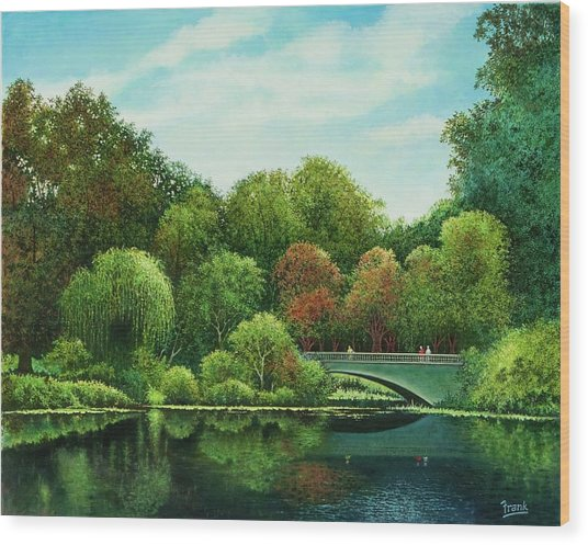 Bridges Of Forest Park Wood Print