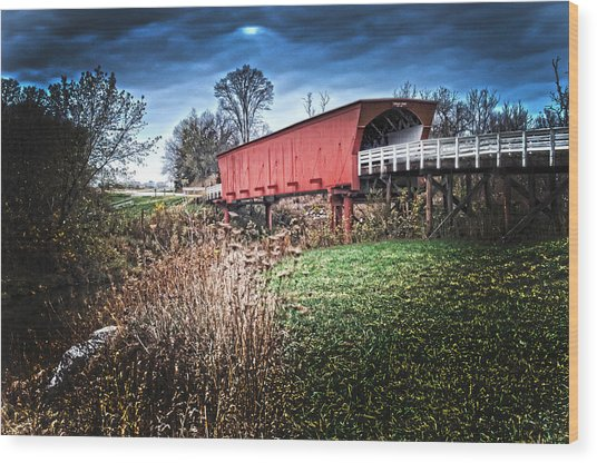 Bridges Of Madison County Wood Print