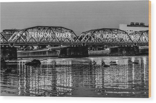 Trenton Makes Bridge Wood Print