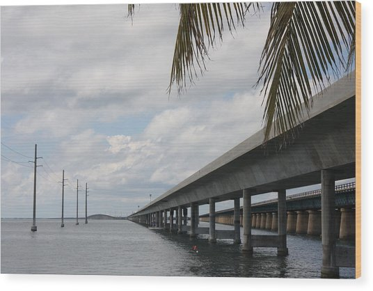 Bridges Over The Sea Wood Print by Christiane Schulze Art And Photography
