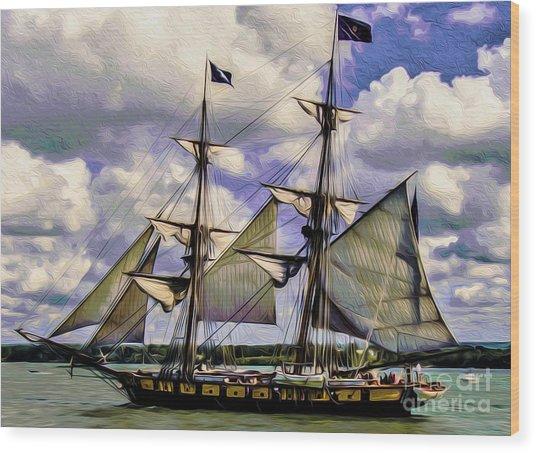 Brig Niagara IIi Wood Print