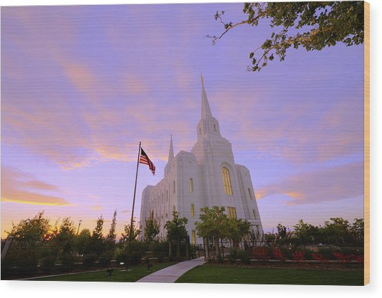 Brigham City Temple I Wood Print
