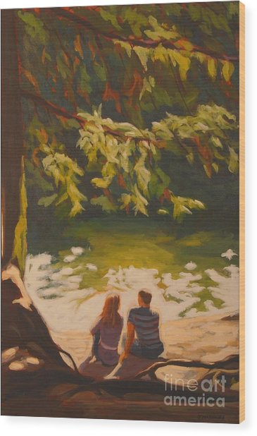 Bright Angel Moment Wood Print by Janet McDonald