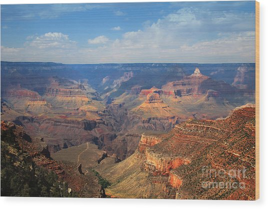 Bright Angel Trail Grand Canyon National Park Wood Print