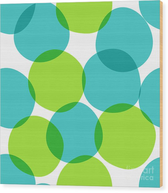 Bright Seamless Pattern With Circles Wood Print by Yanakotina
