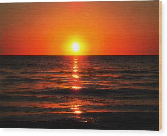 Bright Skies - Sunset Art By Sharon Cummings Wood Print