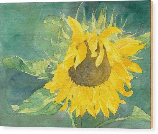 Bright Sunflower Wood Print