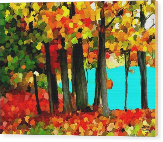Brightness In The Forest Wood Print