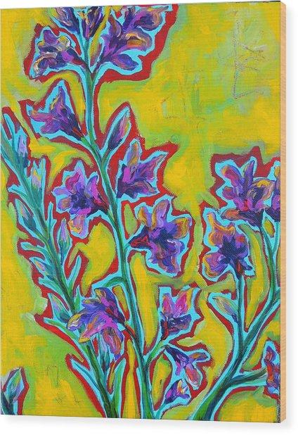 Brilla Wood Print by Dawn Gray Moraga