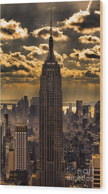 Brilliant But Hazy Manhattan Day Wood Print