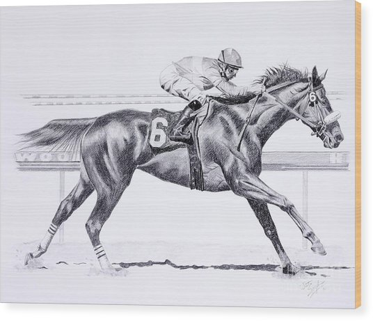 Bring On The Race Zenyatta Wood Print