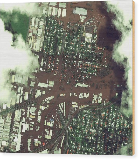 Brisbane Floods Wood Print by Digital Globe