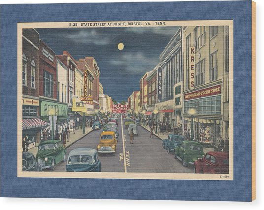 Bristol At Night In The 1940's Wood Print
