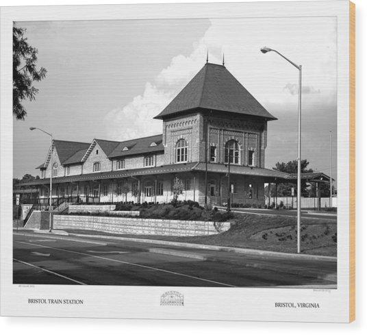 Bristol Train Station Bw Wood Print