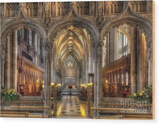 British Church Wood Print