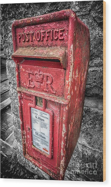 British Post Box Wood Print