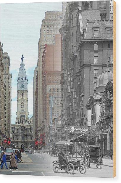 Broad Street Theatre Wood Print
