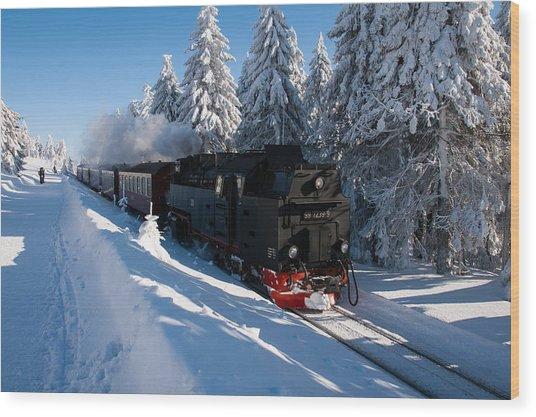 Brockenbahn Wood Print