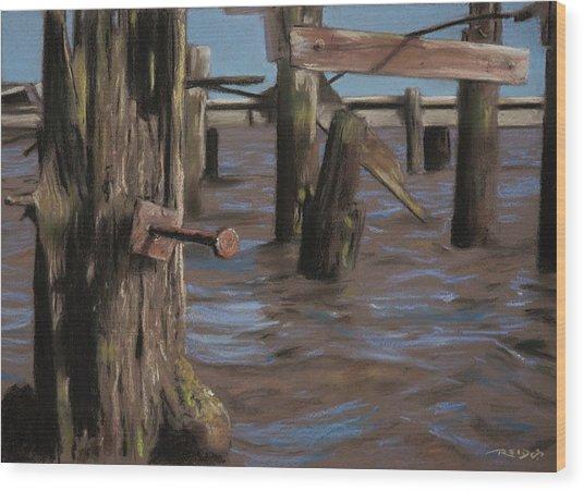 Abandoned Pier Wood Print