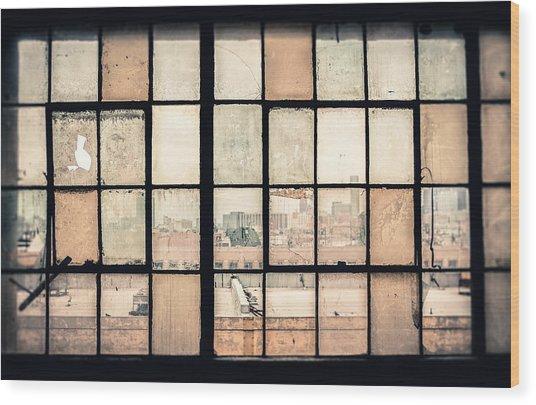 Broken Windows Wood Print