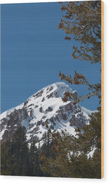 Brokeoff Mtn. In Spring Wood Print