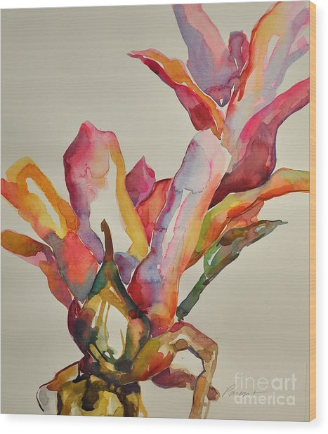 Bromeliad #4 Wood Print