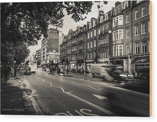 Brompton Road Knightsbridge Wood Print