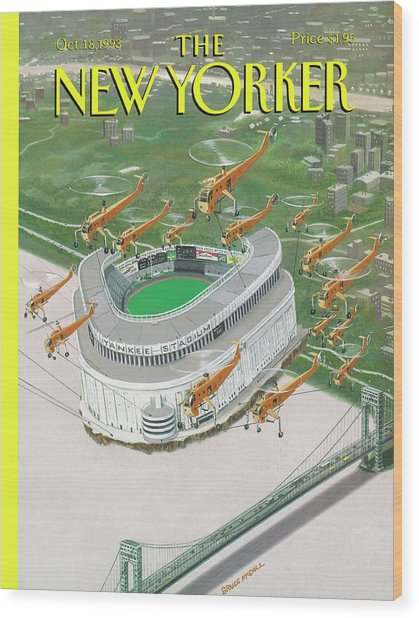 New Yorker October 18th, 1993 Wood Print by Bruce McCall