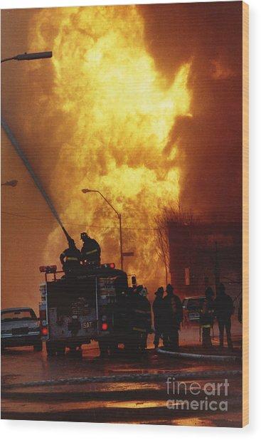 Bronx Gas Explosion Wood Print