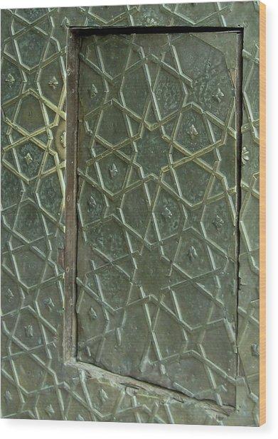 Bronze Door In A Door Wood Print