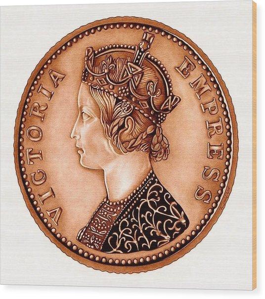 Bronze Empress Victoria Wood Print