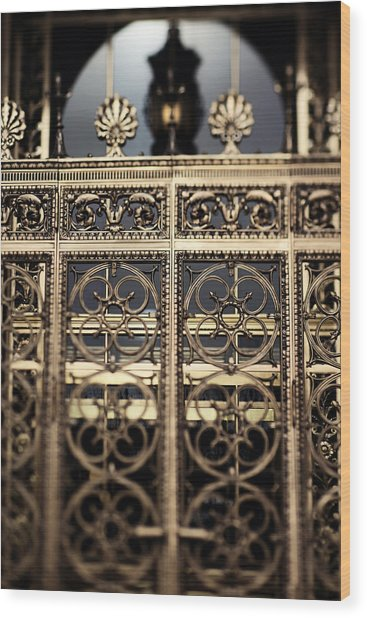 Bronze Gate Wood Print