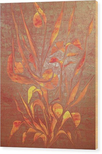 Bronze Wood Print by Nico Bielow