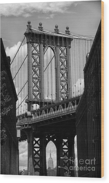 Manhattan Bridge Nyc Wood Print