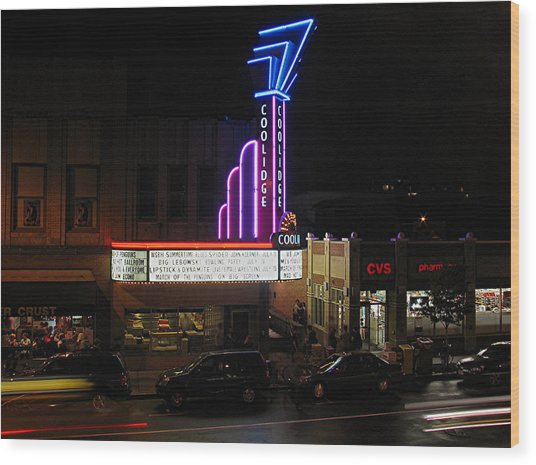 Brookline Coolidge Corner Theater Wood Print
